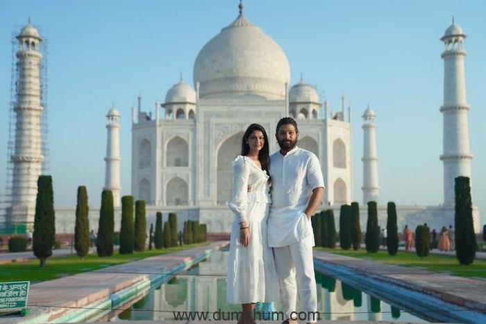 Allu Arjun Stylish Star & Allu Sneha celebrate a decade of togetherness at Taj Mahal