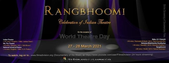 'Rangbhoomi: Celebration of Indian Theatre', a unique festival by Films Division