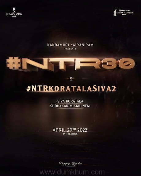 Jr. Ntr and Koratala Siva collaborate for the second time for a massive Pan India project