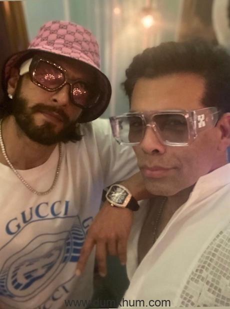 Karan Johar and Ranveer Singh in Delhi for recee of RRKPK