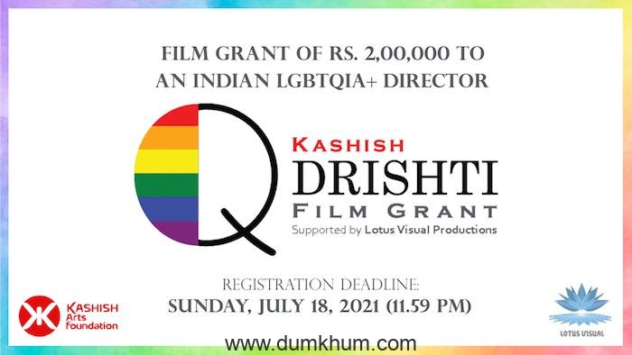 KASHISH offers film grant to LGBTQ+ Filmmakers