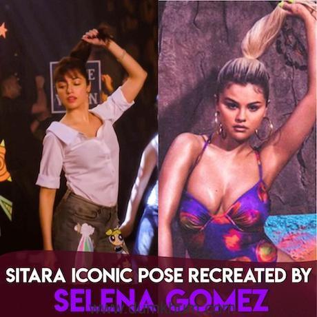 Selena Gomez recreates Divya Khosla Kumar's iconic 'Sitara' Pose and the internet cannot handle it !