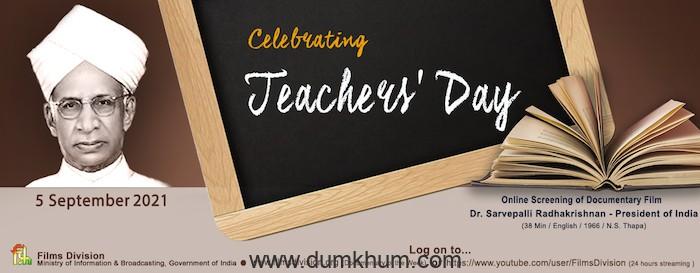 Films Division celebrates Teachers' Day by screening a biopic  on Dr Sarvepalli Radhakrishnan