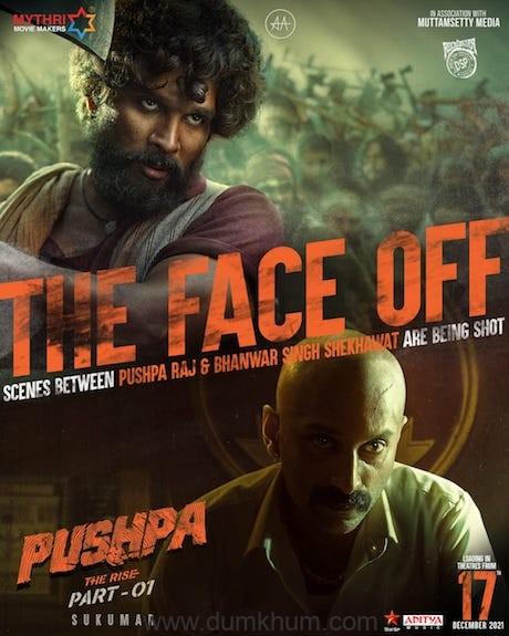 Allu Arjun's 'Pushpa – The Rise' shoots the hero vs villain face-off